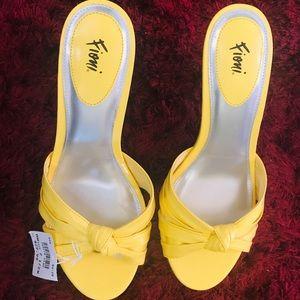 Fioni Margot Amarillo Slip On Heel (Size 7.5W)